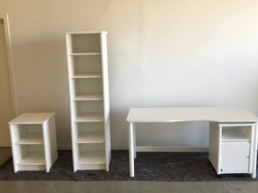 1 Desk, 2 Bookcases, 1 Container on Wheels, 1 Office Chair - Small World Basic